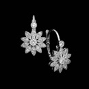 Beverley K earrings in 18kt white gold with .29ctw diamonds.