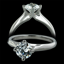Sholdt  Sholdt platinum solitaire ring from Fremont Collection