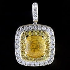 Bridget Durnell Yellow Sapphire and diamond pendant
