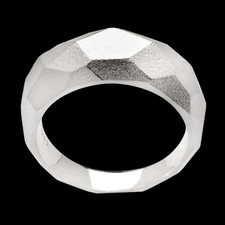 Bastian Inverun Silver faceted dome ring by Bastian Inverun
