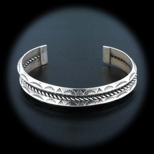Estate Jewelry 1970's Vintage Sterling Silver Rope Design Bracelet
