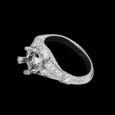 Beverley K Art deco side diamond ring