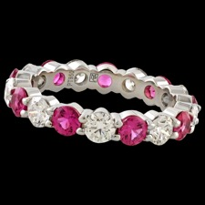 Memoire Pink sapphire and diamond eternity band