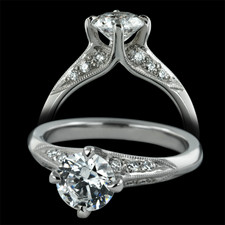 Sholdt  Sholdt platinum Fremont Collection engagement ring