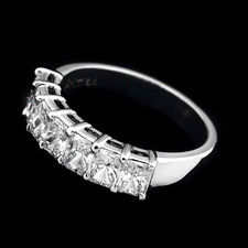 Sasha Primak's beautiful platinum and diamond wedding band with 7 radiant diamonds weighing 1.48ctw.