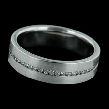 Bridget Durnell 6mm Platinum Gents Band with Channel Set Brilliants