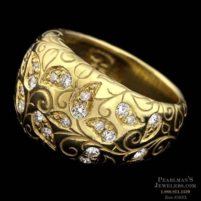 Seidengang Jewelry 18kt Gold Laurel Collection Ring