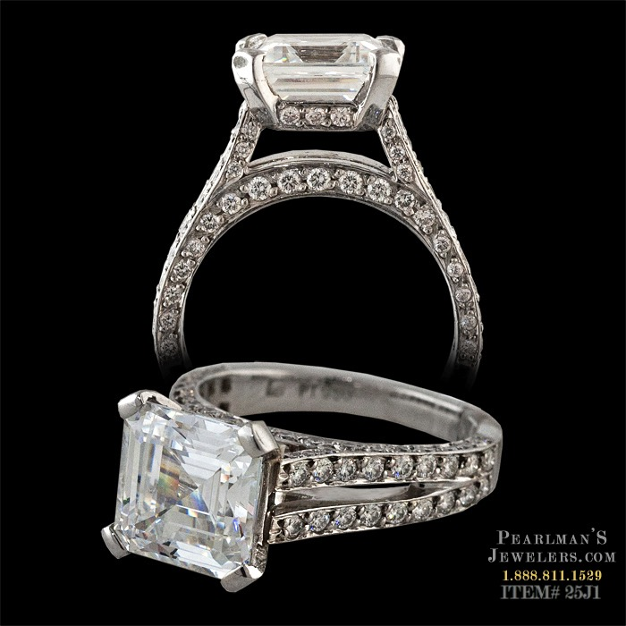 Gumuchian Jewelry Eiffel Tower Engagement Ring