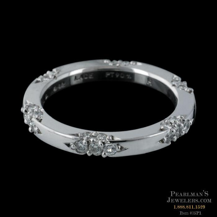 Michael b jewelry flat sided lace wedding band for Michael b s jewelry