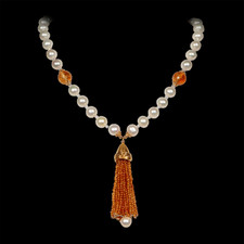 Robert Golden Gold and citrine pearl necklace