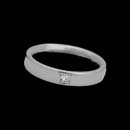 Designed by Christian Bauer, this  4.5mm platinum wedding band shines with one .17ct diamond. Also available in 18K white or yellow gold.