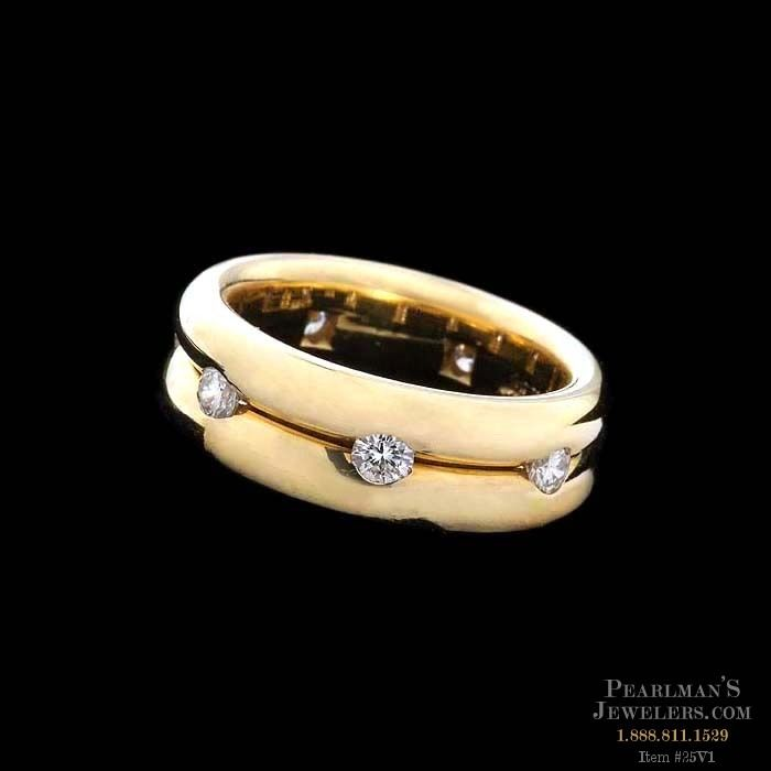 Whitney Boin Elegant 18kt Yellow Gold 7mm Double Band Wedd