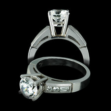 Closeout Jewelry Jeff Cooper Platinum Diamond Engagement ring
