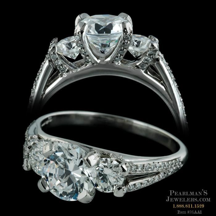 bridget durnell jewelry tradition collection threestone