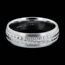 Michael Beaudry mens platinum wedding band