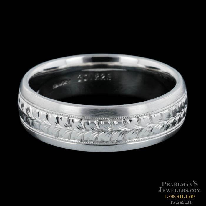 Michael Beaudry Jewelry Mens Platinum Wedding Band