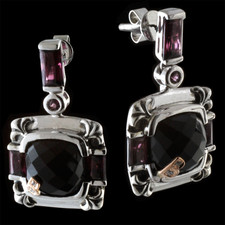 Bellarri Bellarri black onyx and rhodolite earrings