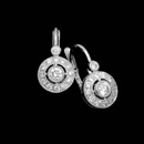 One pair of 18kt white gold and diamond earrings from Beverley K with .42ctw in diamonds. These earrings are 5/8 inches in length and 5/16 inches at there widest point.