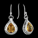 These are a nice pair of sterling and citrine earrings with stunning engraving by Scott Kay Sterling.