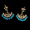 20kt yellow gold moulin chandelier turquoise and diamond earrings by Cathy Carmendy.  Total diamond weight is 3/4ct.