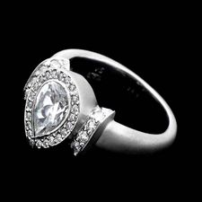 Chris Correia Chris Correia Platinum diamond ring for pear shaped