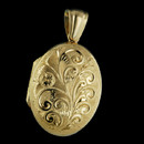 A beautiful 18kt gold hand engraved and handmade locket by Charles Green. When trying to think of the perfect gift for her, well here it is. This locket measures 25mm X 19mm. This wonderful Royal Windsor locket is the same version, ever so slightly larger interpretation, in 18kt yellow gold as the one created for England's Queen Mother and presented on her 100th birthday. Please call for pricing in 18kt white gold or platinum.