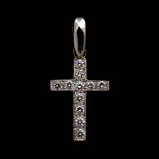 18kt white gold and diamond cross by charles green with .77ctw of beautiful diamonds.