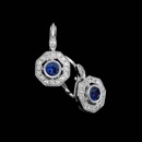 Like the beauty of a stained glass window, these 18kt white gold and diamond Beverley K earrings, with sapphire centers, are absolutely magnificent. These earrings contain .14ct total weight in diamonds and .25ct. total weight in sapphires.