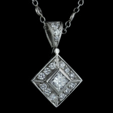 Platinum necklace by Beaudry contains .70ctw of diamonds. Call for price and availability.