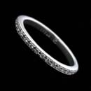 A platinum pave 2.0mm diamond eternity ring.  The ring is set with .29ct of full cut VS, F-G diamonds