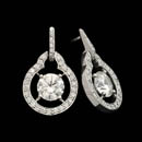 Platinum earrings from Gumuchian's ''Bryant Park'' collection.  The earring are set with .54ct of diamonds and are 21mm in length. This set can hold from 1/2ct and up center diamonds. Center diamonds not included.
