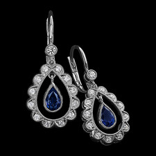 Carl Blackburn 18kt white gold diamond & sapphire earrings