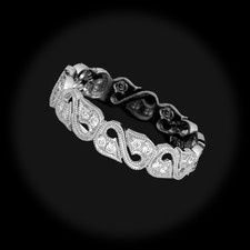Closeout Jewelry Beverley K platinum floral diamond ring