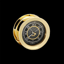 Chelsea Clocks Carbon Fiber Barometer, Brass