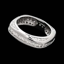 Alex Soldier Men's platinum diamond wedding band
