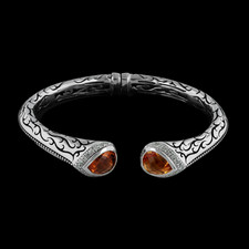 This is a stunning sterling sliver cuff bracelet from Scott Kay Sterling, with beautiful citirine stones.
