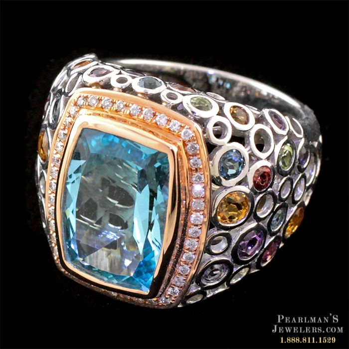 Bellarri Blue Topaz Multi Gemstone Ring