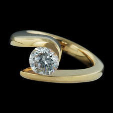 Steven Kretchmer tension set 18k gold engagement ring