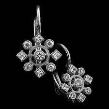 Carl Blackburn 18kt w.g. diamond snowflake earrings