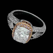 Michael Beaudry Platinum & diamond ring - Beaudry