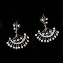 These platinum, diamond and pearl Moulin chandelier Cathy Carmendy earrings will add drama to any look. The earrings dangle 2-inches from the earlobes. Diamond weight 1.0ct total VVS F-G quality. Nie!