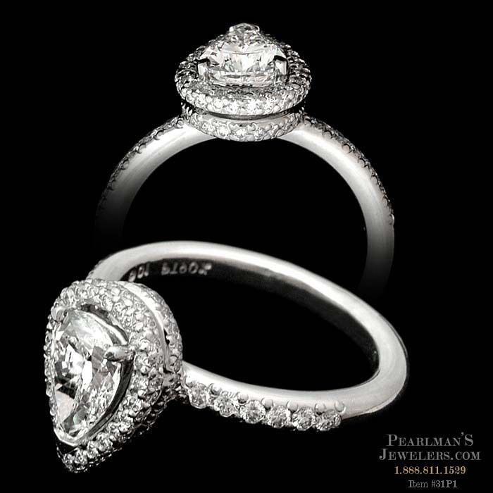 Michael b jewelry pear diamond engagement ring for Michael b s jewelry