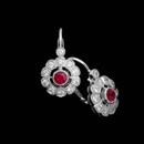 Like a single wild flower, this delicate Beverley K earring sets itself apart from all the rest with a vibrant ruby center and diamond petals. The total diamond weight is .36ct. and the total ruby weigh is .36ct.