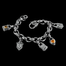 Scott Kay Sterling Scott Kay Silver Charm bracelet with charms