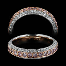 michael beaudry eternity pink diamond wedding band - Pink Diamond Wedding Ring