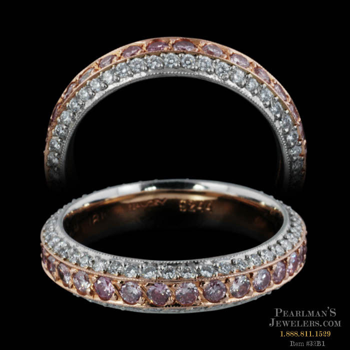 Michael Beaudry Eternity Pink Diamond Wedding Band