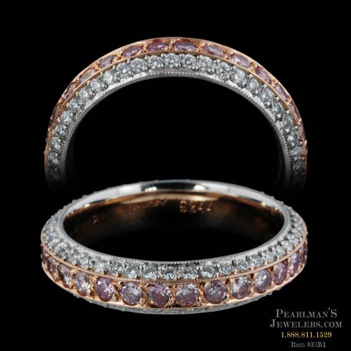 Michael beaudry jewelry eternity pink diamond wedding band junglespirit Choice Image