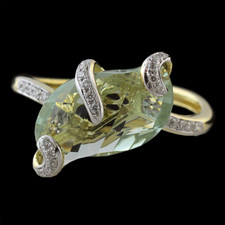 Bellarri 18K yellow gold Prasiolite ring