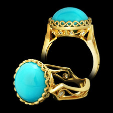 Cathy Carmendy Cathy Carmendy 20kt y.g. Persian Turquoise ring