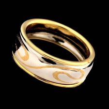 Michael Bondanza's beautiful 18kt, 24kt, and platinum Swirl band. 8.9mm width.